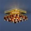 Светильник 7081 золото/янтарь/прозрачный (GD/T/WH) MR16