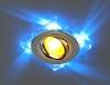 Светильник 2080/2 хром/синяя подсветка (SL/BL) (MR16)